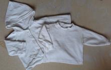 Teplý kabátek + triko - vel. 56, 56