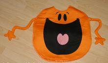 Karnevalový oranžový kostým mr. men little miss,