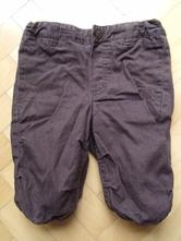 Plátěné bavlněné kalhoty s bavlněnou podšívkou, h&m,62