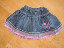 Riflová sukně , květovaná matalan, 86,, f&f,86