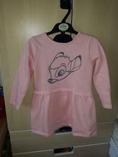 Dívčí mikinové šaty disney vel. 86/92, disney,92
