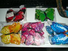Dekorace magnet sada motýl 3d motýlci,