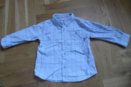 D203chlapecká sametová košile s dlouhým rukávem, george,86