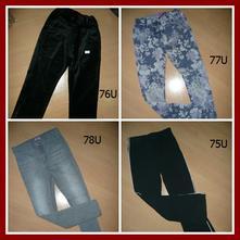 4x kalhoty tepláky džíny vel 6-8 let , f&f,122