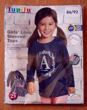 Dívčí tričko dvojbalení, lupilu,86