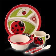 5 dílná jídelní sada pro děti - ladybird,