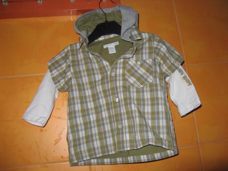 Košile podšitá-zn.h&m--vel.74-80, h&m,74