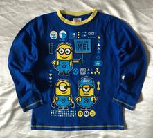Vel. 128 modré pyžamové triko s mimoněm, george,128
