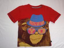 Krásné červené tričko s opičákem, george,122