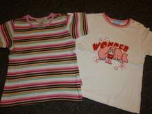 2 x tričko, h&m,80