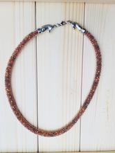Korálkový náhrdelník koně hnědý ii,