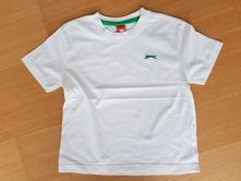 Bílé triko s logem, slazenger, 116, slazenger,116