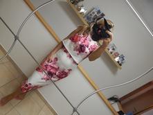 Kvetovane šaty s visačkou, m