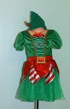 Karnevalový vánoční kostým šaty slečna skřítková,