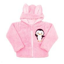 Zimní dětská mikina new baby penguin růžová, new baby,56 - 98