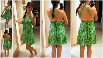 1 šaty, 100x jinak.. tropická zelená