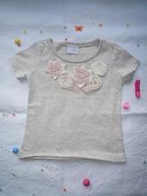 Bavlněné tričko s aplikací růžiček, next , next,68