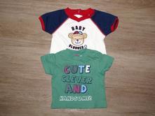 Roztomilá trička pro chlapečka 'cute', packf, tu,62