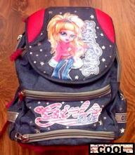 Pěkný školní dívčí batoh cool,
