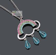 Stříbrný delší náhrdelník,