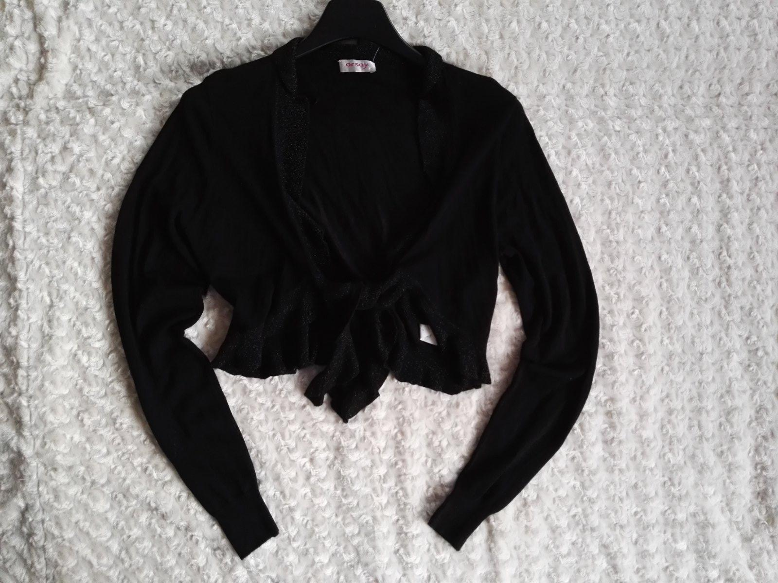 Černý svetřík bolerko svetr kolekce party 788038c732