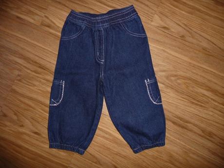 Džínové  kalhoty tiny ted na 9-12m-vel.80, tiny ted,80