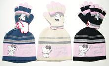 Zimní čepice + rukavice charmmy kitty, 98 - 128