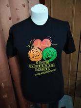 Chlapecké černé bavlněné triko s obrázkem, 164