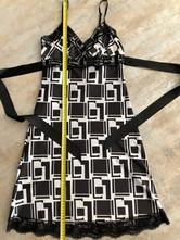 Černobílé letní šaty vel.s 36 krajka mašle kostka, s