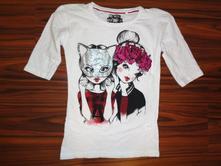 Luxusní tričko s holkama 146/152, c&a,146