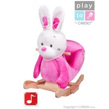 Houpací hračka playto králíček růžová,