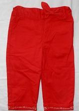 P48. top plátěné kalhoty s mašlí 18 měs., 80