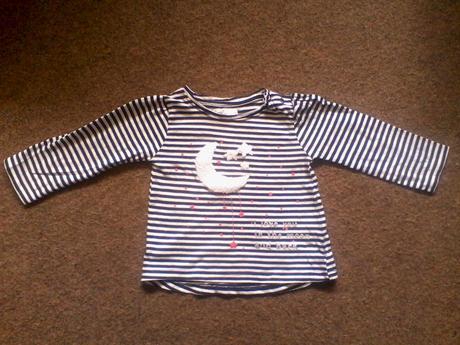 Pruhované tričko s dlouhým rukávem, pepco,74