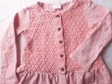 Lososový svetr s krajkou, f&f,92