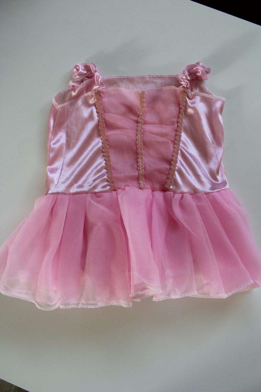 Růžové šaty 74 kostým s tylovou sukní ed1ce00222