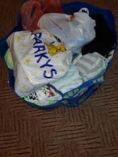 Kabela s dětským oblečením a boty 1-2roky,