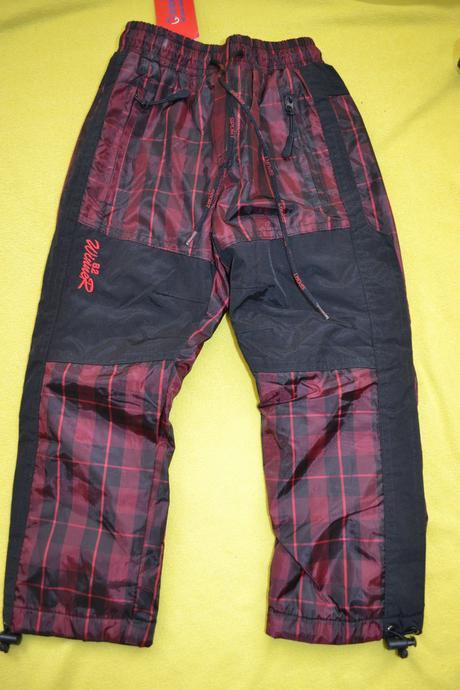 Oteplené šusťákové zimní kalhoty na 2,5-3,5r., grace,98