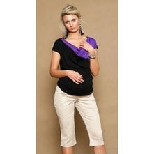Těhotenské kalhoty anna 3/4 - béžové, l - xxxl