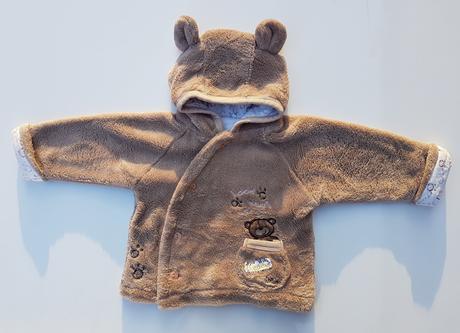 B74dívčí / chlapecká teplá mikina s kapucí, 68