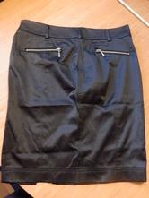 Lesklá černá sukně, terranova,m