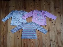 3x tričko s dlouhým rukávem 86-92, lupilu,92