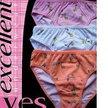 Dívčí bavlněné kalhotky, český výrobce, 104