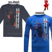 Bavlněné triko s motorkou, skladem, wolf, wolf,140 - 170