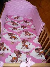 Dětské povlečení oslík růžový, 90,120