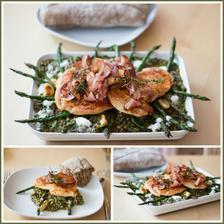 Kuře, slanina, chřest a špenátová čočka (podle Jamieho 15 minut v kuchyni)