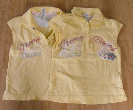 E56-tričko s límečkem žluté 2 ks, c&a,86