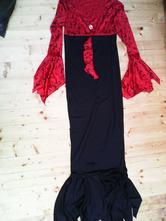 Bordo- černé šaty,čarodějnice, l