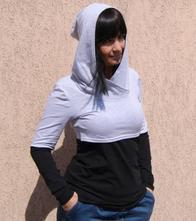 Mikina pro kojící a těhotné maminky duocolor,