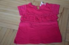 Sytě růžové triko s volánkem vel.98 cm (2-3 roky), girl2girl,98
