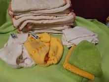Flísové kalhotky anavy a vícevrstvé pleny xkko, anavy